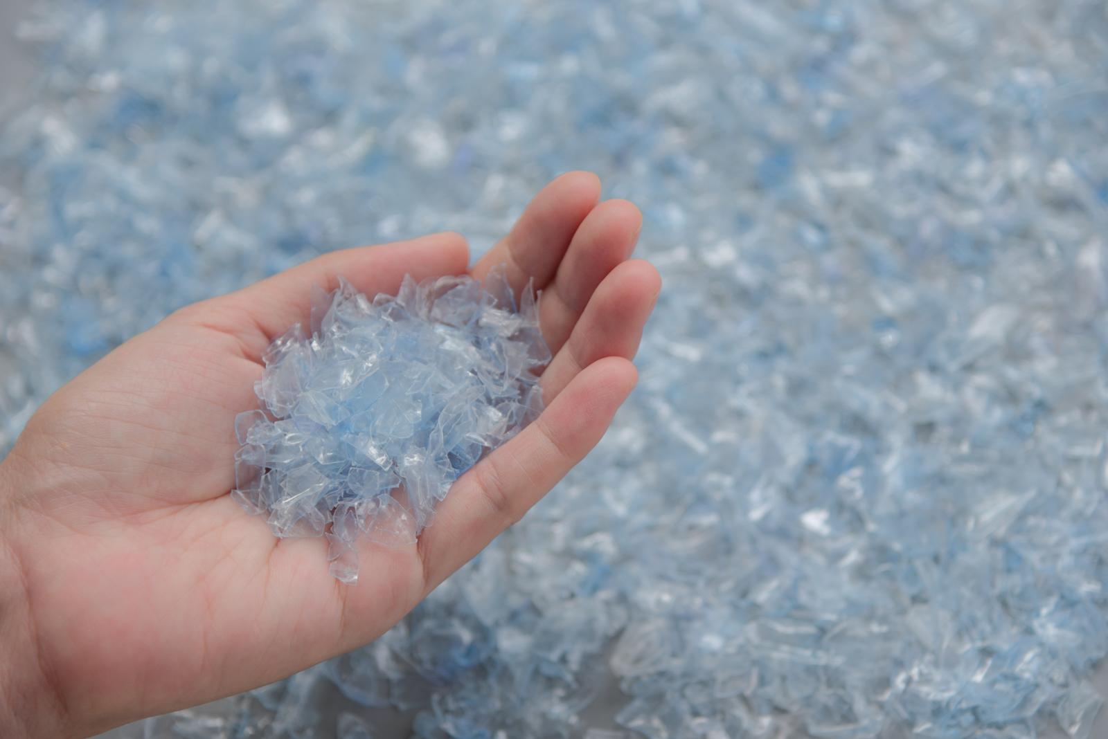 plastica riciclata in trucioli